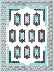 Deco Ritz Lap Size Quilt Kit