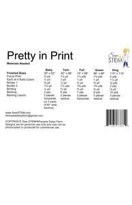 Pretty in Print Quilt Pattern Back