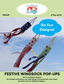 FQG144 Festive Windsock Pop Ups Pattern Cover