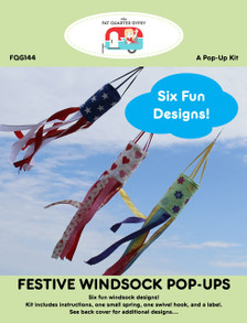 FQG144 Festive Windsock Pop Ups Pattern Cover