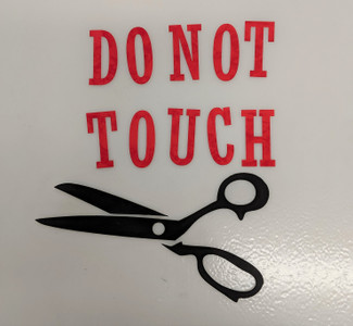 Do Not Touch Laser Cut Shapes - Red/Black