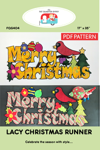 FQG404pdf Lacy Christmas Runner - PDF Printable