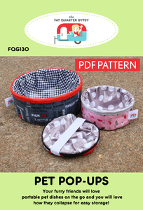 FQG130pdf Pet Pop-Ups Pattern - PDF Printable