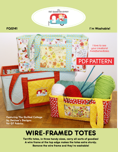 FQG141pdf Wire-Framed Totes Pattern