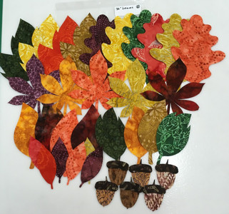 "Lacy Leaf 36"" Table  Runner Kit #2 - Actual Leaves in kit."