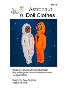 "Astronaut 18"" Doll Clothes Sewing Pattern - Downloadable"