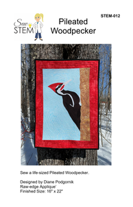 Pileated Woodpecker Quilt Pattern - Downloadable