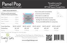 SGD061 Panel Pop Quilt Pattern