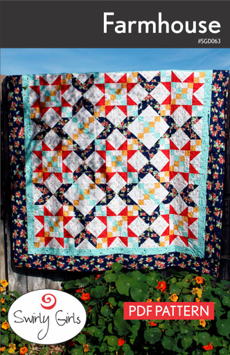 SGD063pdf Farmhouse Quilt Pattern - Printable Download