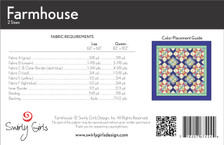 SGD063pdf Farmhouse Quilt Pattern - Printable Download