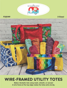 FQG149pdf Wire-Framed Utility Tote Pattern