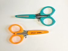 ToolTron Serrated Thread Scissors with File Cap - Neon Orange or Teal