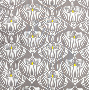 2 yard cit of Deco Ritz Gray Dahlia by Camelot Fabrics