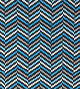 1/2 yard cut of Deco Ritz by Camelot Fabrics - Turquoise Chevrons