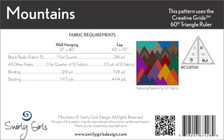 SGD067 Mountains Quilt and Wall Hanging Pattern