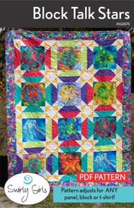 SGD070 Block Talk Stars Pattern