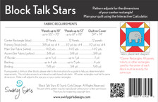 SGD070 Block Talk Stars Pattern