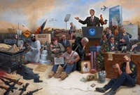 Obamanation 12 X 18 OE Signed by Artist - Giclee Canvas