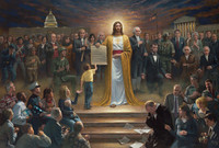 One Nation Under God 12 X 18 Signed by Artist - Giclee Canvas