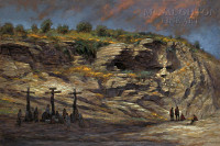 Beneath Golgotha 16x24 LE Signed & Numbered - Giclee Canvas