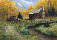 Cabin Memory 24 x 36 LE Signed & Numbered - Giclee Canvas