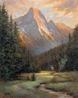 Mountain Solitude 28 x 35 - Giclee Canvas