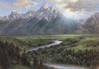 Snake River Lookout 28 x 35 - Giclee Canvas