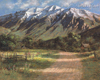 Timpanogos Shadows 28 x 35 - Giclee Canvas