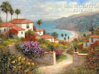 Coastal Paradise 12x18 OE Signed by Artist - Giclee Canvas