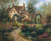 Cottage Garden 24 x 30 LE Signed & Numbered - Giclee Canvas
