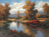 Autumn Reflections 20 x 24 LE Signed & Numbered - Giclee Canvas