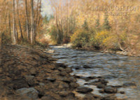 Mountain Stream 16 x 24 LE Signed & Numbered - Giclee Canvas