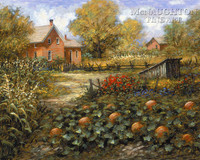 Old Pumpkin Patch 12 x 16 LE Signed & Numbered - Giclee Canvas