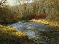 River Color 20 x 30 LE Signed & Numbered - Giclee Canvas