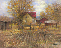 The Homestead 24 x 30 LE Signed & Numbered - Giclee Canvas