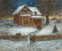 Christmas Carolers LE Signed & Numbered 24x30 - Giclee Canvas
