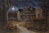 Happy Halloween 10x15 OE - Litho Print