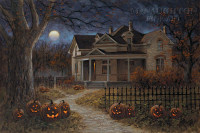 Happy Halloween 24x36 LE Signed & Numbered - Giclee Canvas