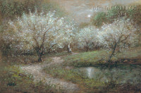 Blossoms in Moonlight 12x18 OE Signed by Artist - Giclee Canvas