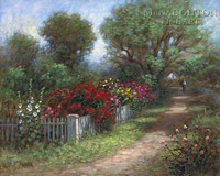 Flowered Path 24x30 LE Signed & Numbered - Giclee Canvas