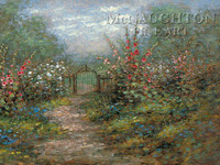 Garden Gate 18x24 LE Signed & Numbered - Giclee Canvas