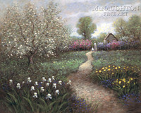 Garden Walk 20x24 LE Signed & Numbered - Giclee Canvas