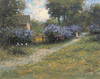 Lilac Path 12x16 LE Signed & Numbered - Giclee Canvas