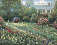 Monet's Garden 18x24 LE Signed & Numbered - Giclee Canvas