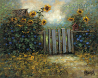 Sunflower Gate 20x24 LE Signed & Numbered - Giclee Canvas