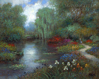 Walk in the Garden 11x14 LE Signed & Numbered - Giclee Canvas