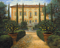 Italian Villa 20x24 LE Signed & Numbered - Giclee Canvas
