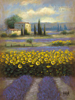 Lavender and Gold 2 18x24 LE Signed & Numbered - Giclee Canvas