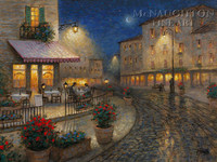Night Cafe 12x18 OE Signed by Artist - Giclee Canvas