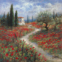 Path to the Villa 30x30 LE Signed & Numbmered - Giclee Canvas